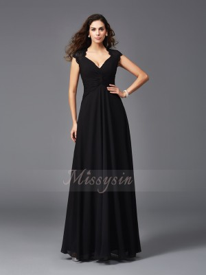 A-Line/Princess Sleeveless V-neck Other Floor-Length Chiffon Bridesmaid dresses