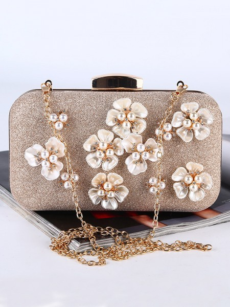 Pretty Wedding/Party Handbags 3D Flowers With Pearl