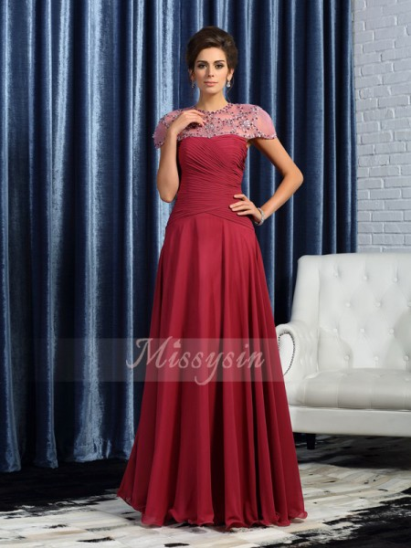 A-Line/Princess Sleeveless Sweetheart Ruched Floor-Length Chiffon Mother Of The Bride Dresses