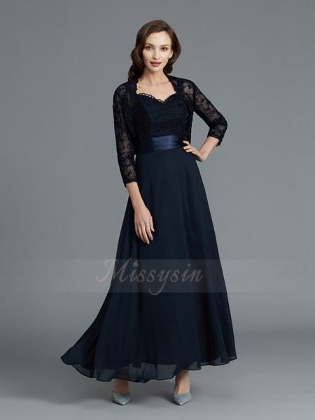 A-Line/Princess Sweetheart Sleeveless Ankle-Length Chiffon Mother of the Bride Dresses