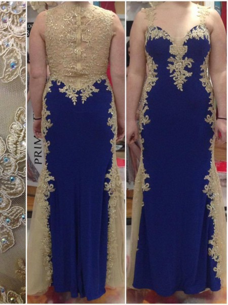 Sheath/Column Straps Floor-Length Applique Sleeveless Elastic Woven Satin Dresses