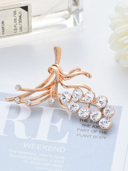 Unique Alloy With Rhinestone Womens Brooch