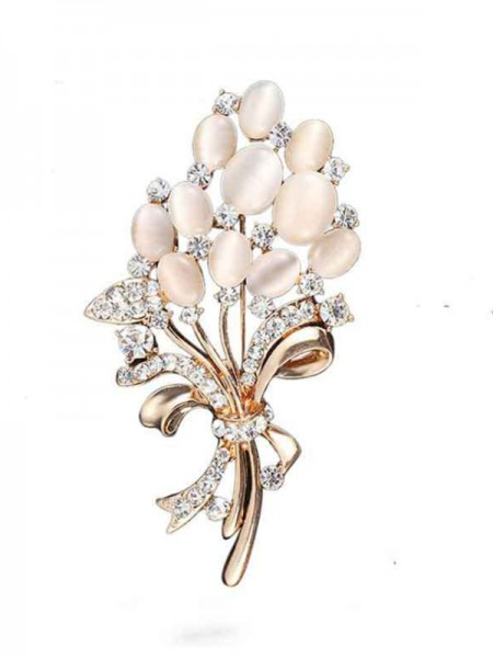 Charming Alloy With Rhinestone Womens Brooch