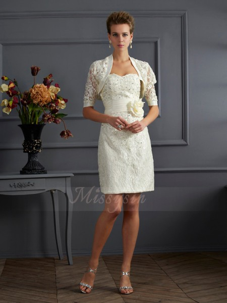 Sheath/Column Sleeveless Knee-Length Taffeta Sweetheart Beading,Applique Dresses